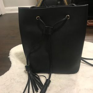 Free People Black Bucket Bag